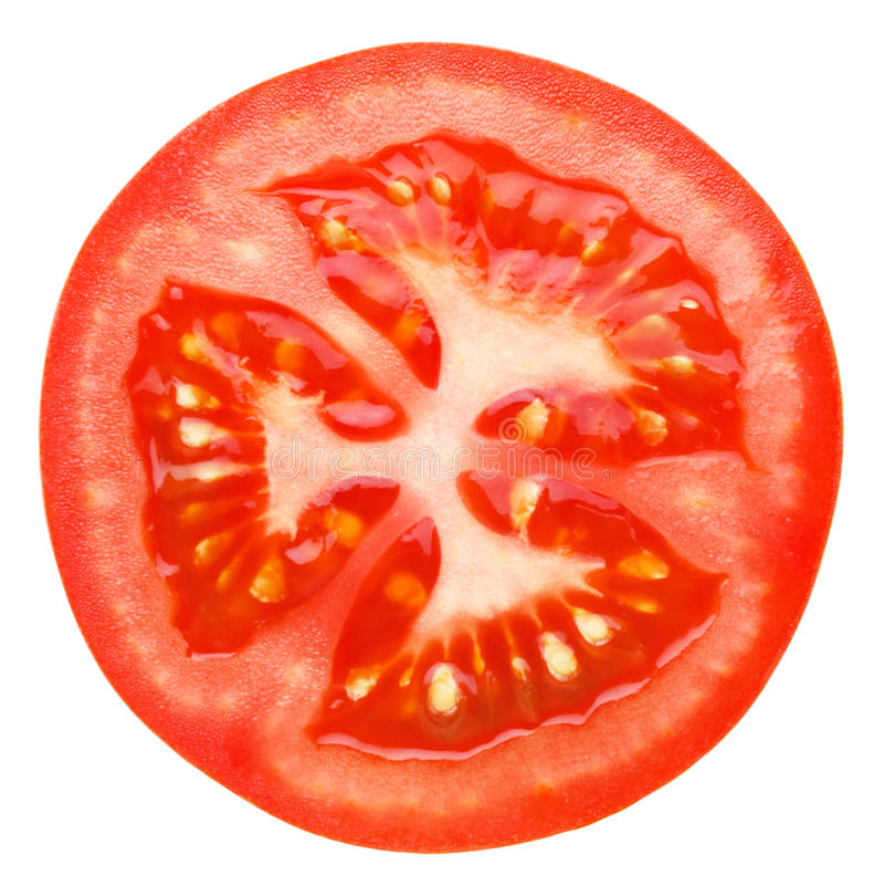 Slice of tomato royalty free stock image