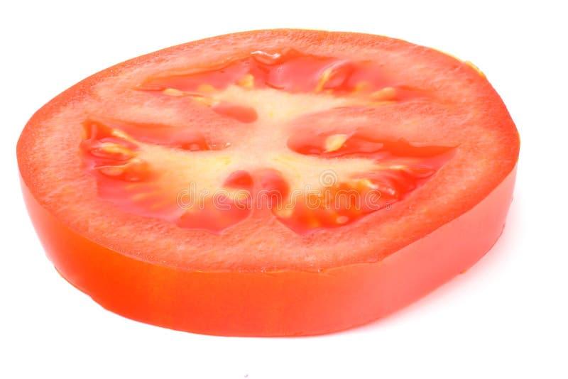 slice of tomato isolated on white background royalty free stock photography
