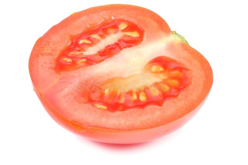 Slice of tomato isolated on white background royalty free stock photos