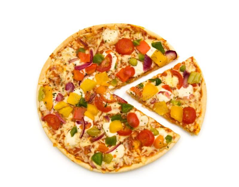 Slice vegetarian pizza stock photos