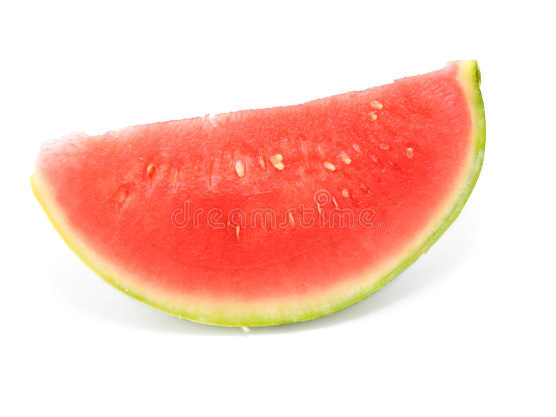 Slice of water-melon on white background royalty free stock photo