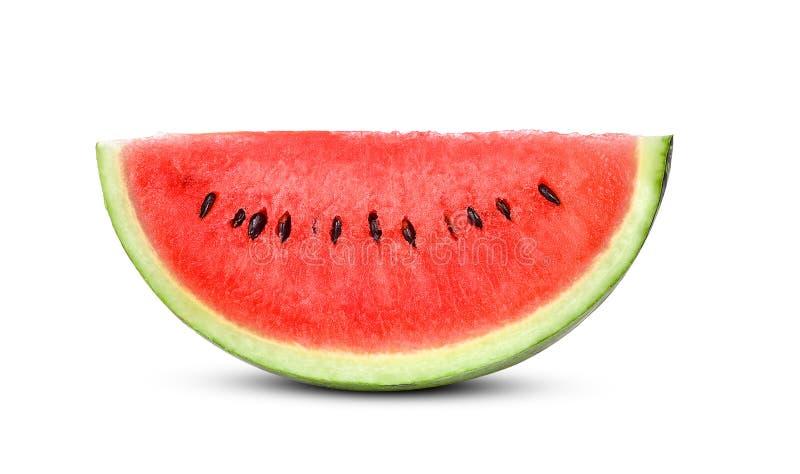 Slice watermelon  isolated on white background stock photos