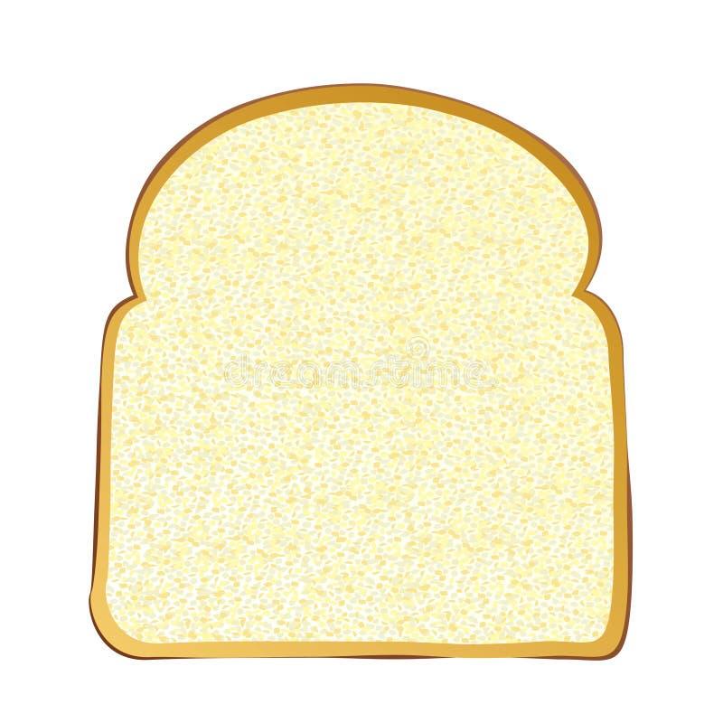 Slice of white bread vector illustration