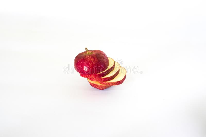 Sliced apple red royalty free stock images