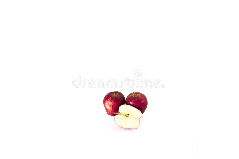 Sliced apple red royalty free stock photos