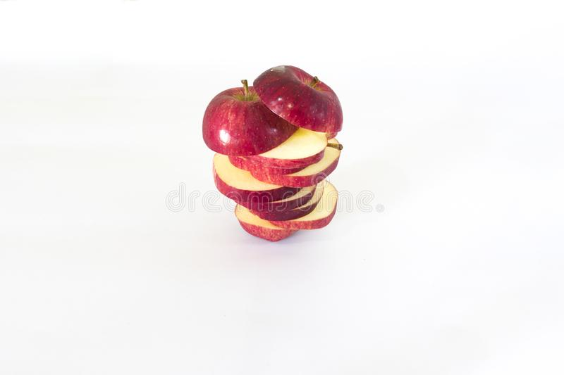 Sliced apple red royalty free stock photography