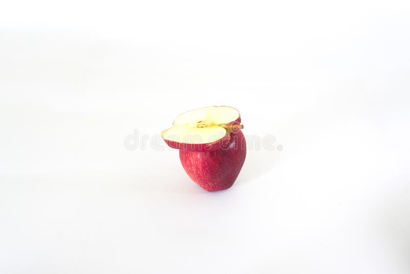 Sliced apple red stock photography