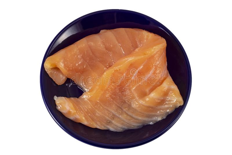 Sliced red salmon fish royalty free stock photography