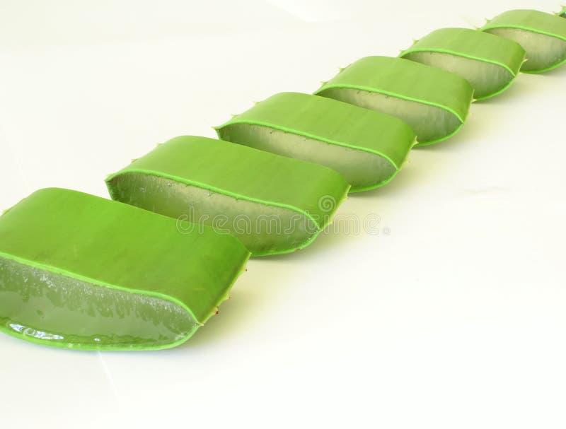 Sliced aloe row