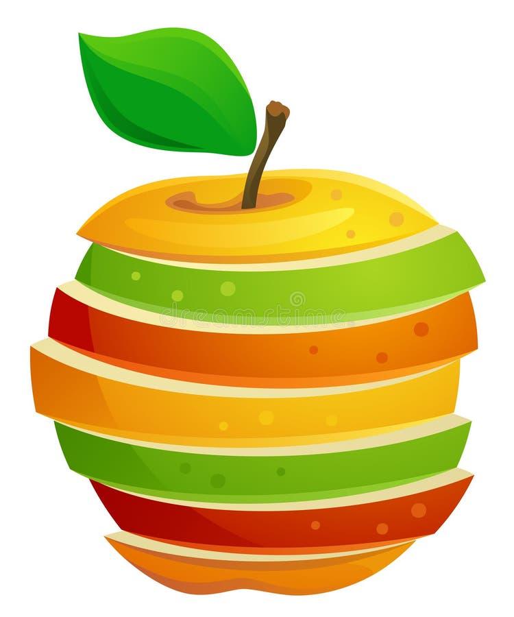 Sliced apple stock illustration