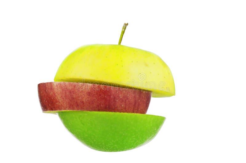 Sliced apples royalty free stock photos