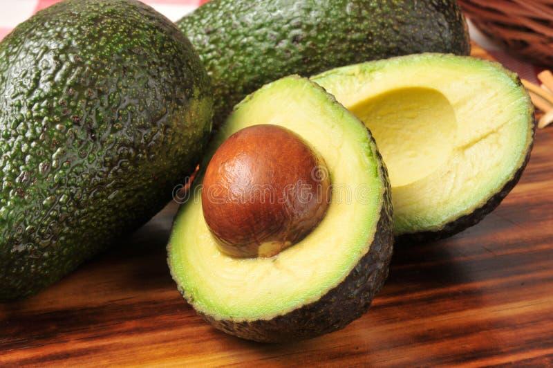 Sliced avocado stock photo