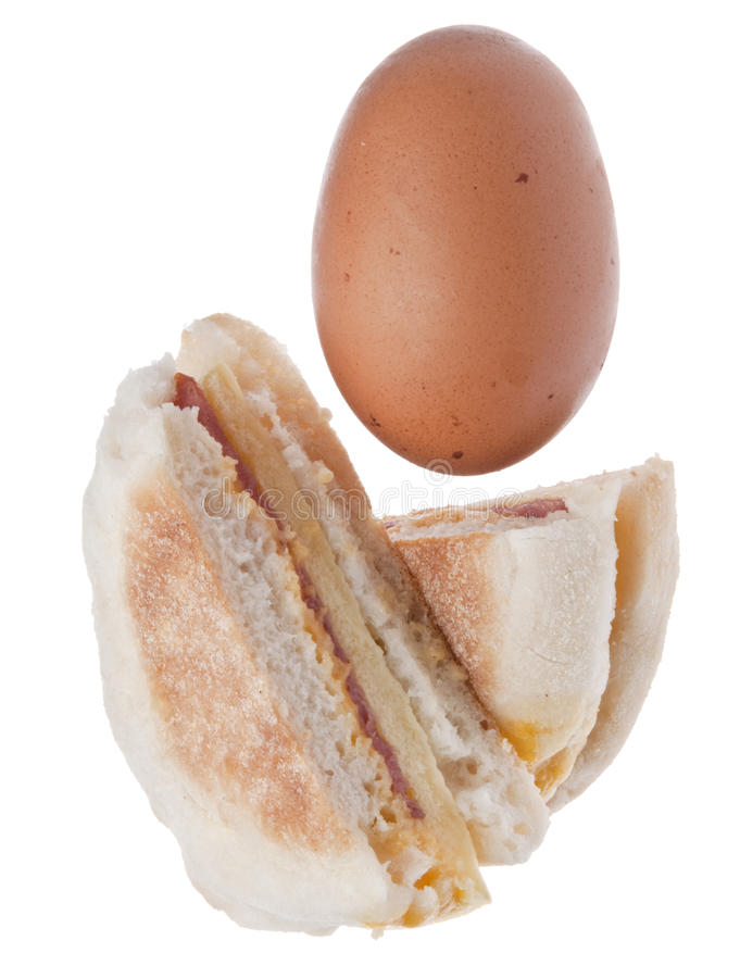 Download Sliced Bacon, Egg And Cheese Breakfast Sandwich Stock Image - Image: 15079711