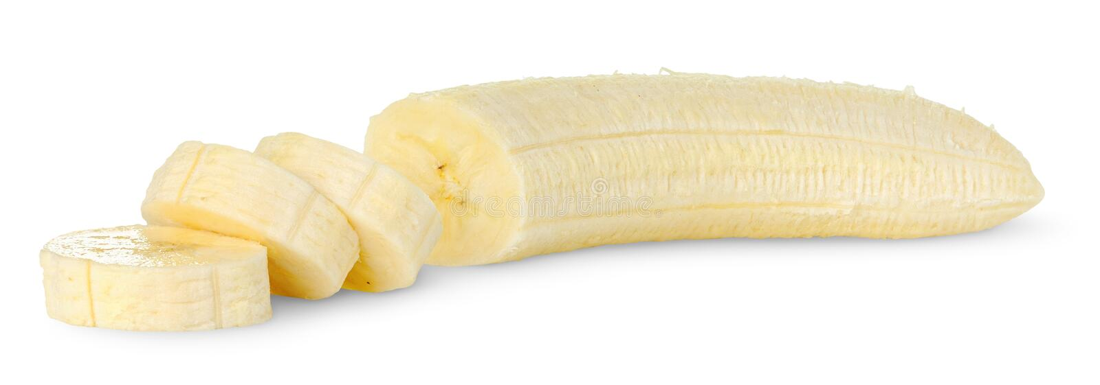 Isolated cut banana royalty free stock photos