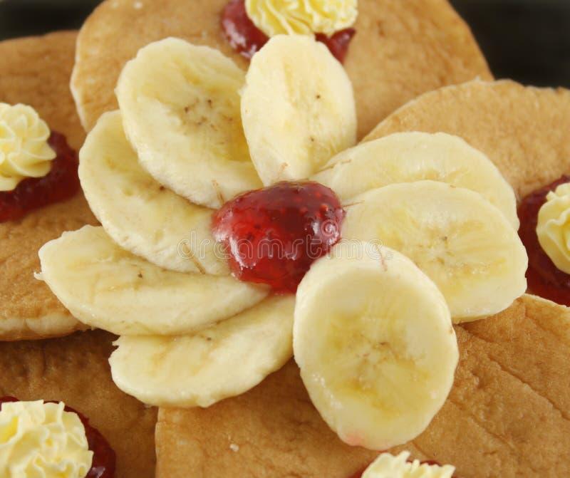 Sliced Banana With Jam Royalty Free Stock Photos