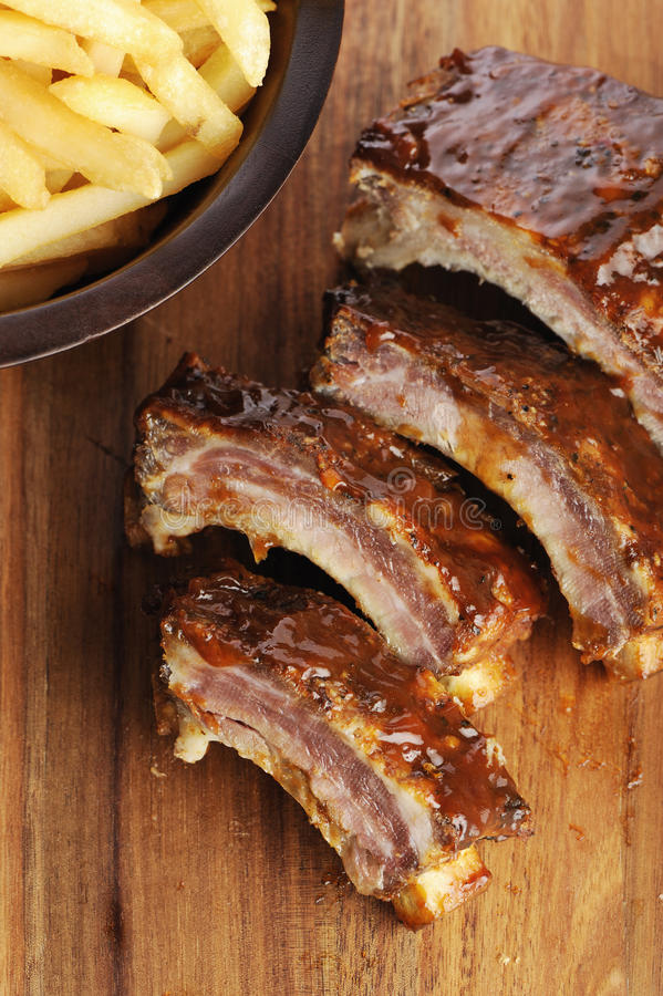 Download Sliced barbecue ribs stock image. Image of eating, french - 29280377