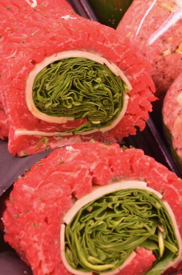 Vegetable Stuffed Beef Roast stock images