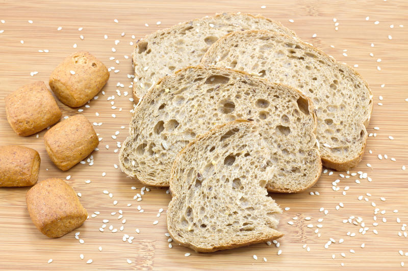 Download Sliced bread stock photo. Image of meal, color, board - 18155690