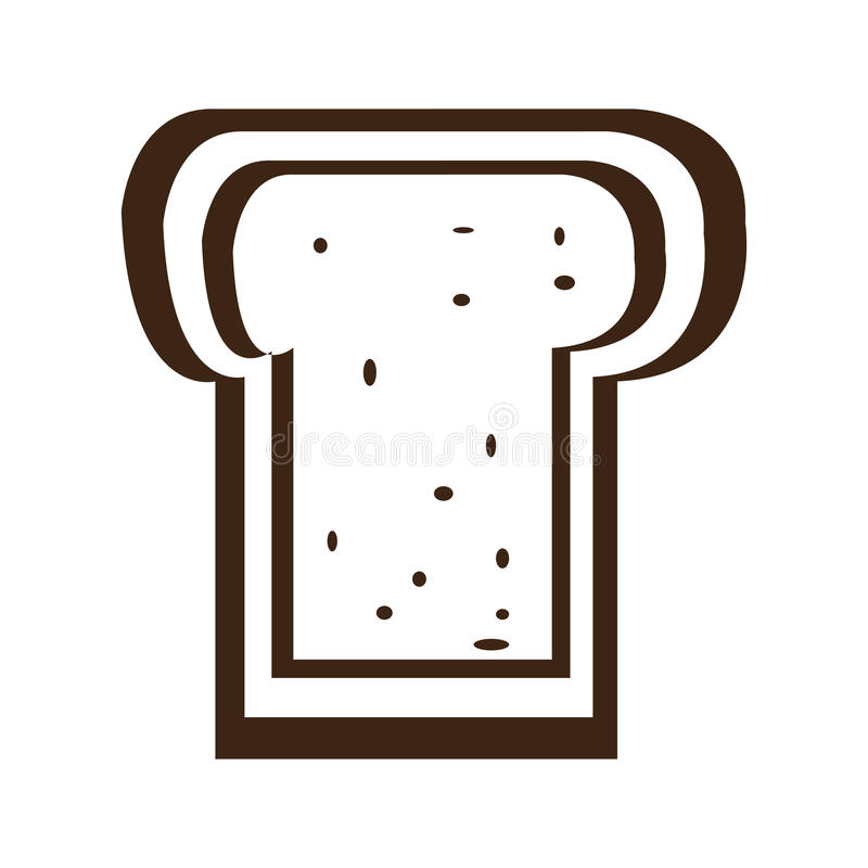 Sliced bread icon. Isolated single sliced bread icon, Vector illustration vector illustration