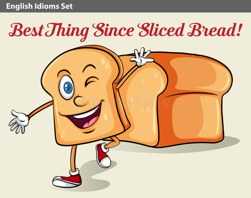 A sliced bread. An idiom showing a sliced bread vector illustration
