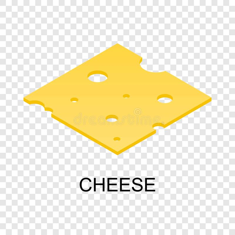 Sliced cheese icon, isometric style royalty free illustration