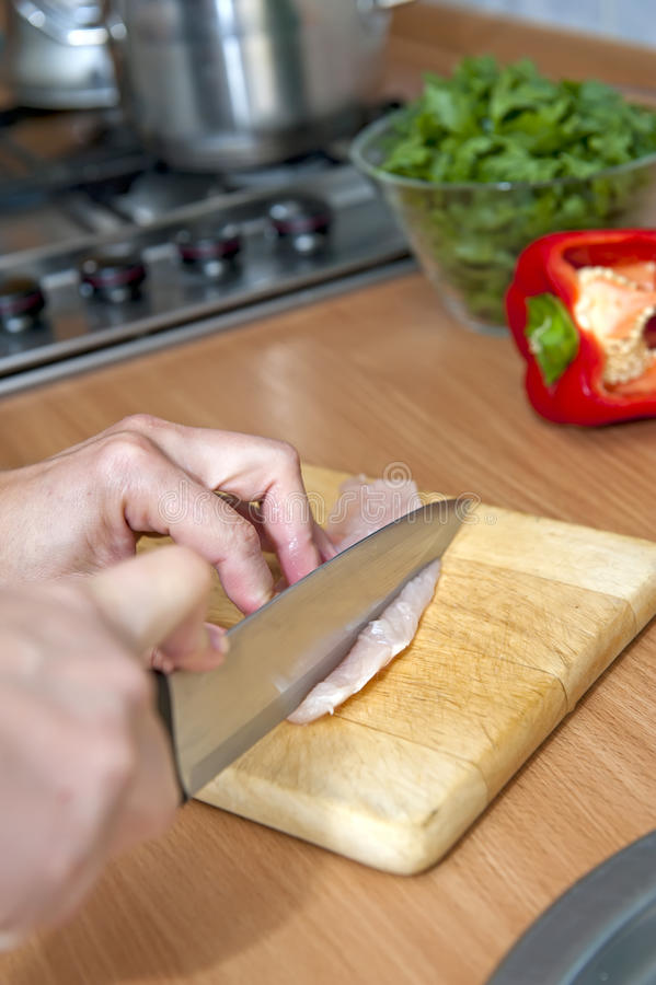 Download Sliced chicken stock image. Image of board, diner, cookery - 26380471