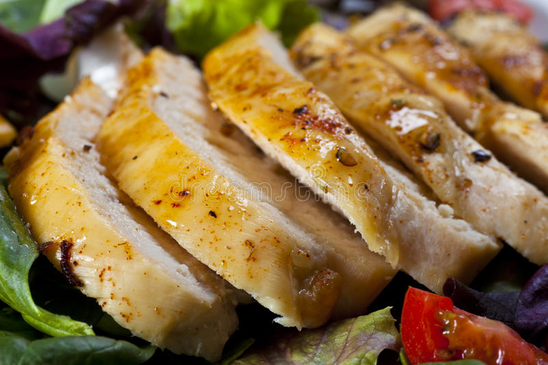 Sliced Chicken Breast royalty free stock image