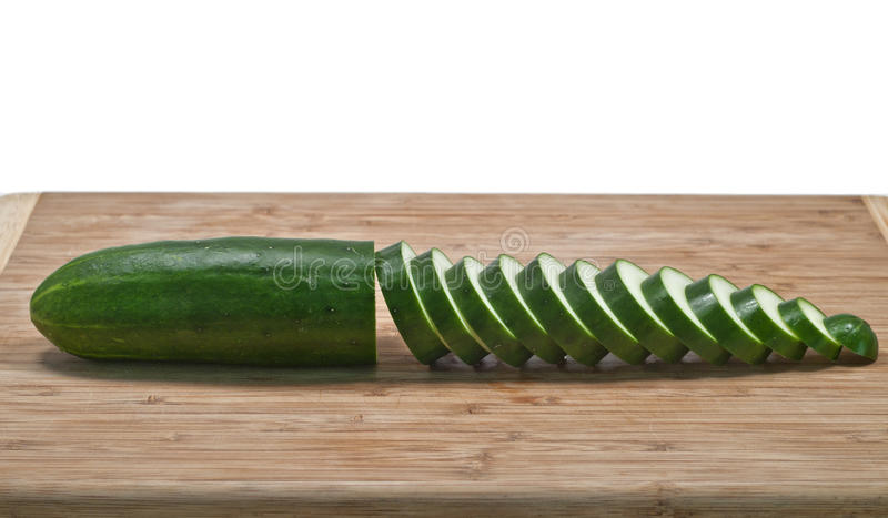 Download Sliced Cucumber Horizontal On Cutting Board Stock Image - Image: 20056551