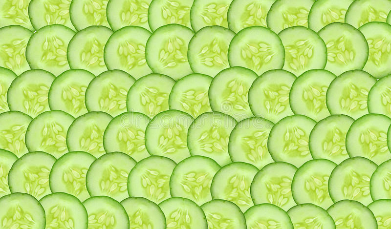 Sliced cucumbers closeup. Such as background royalty free stock photography