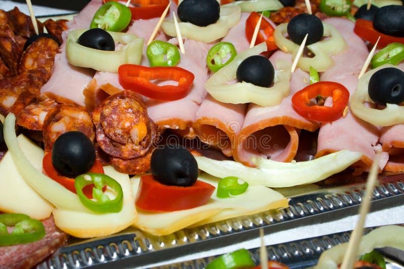 Sliced food royalty free stock photo