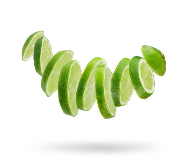 Sliced fresh lime stock photos