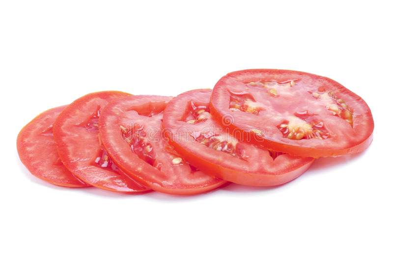 Sliced fresh red tomatoes stock photo