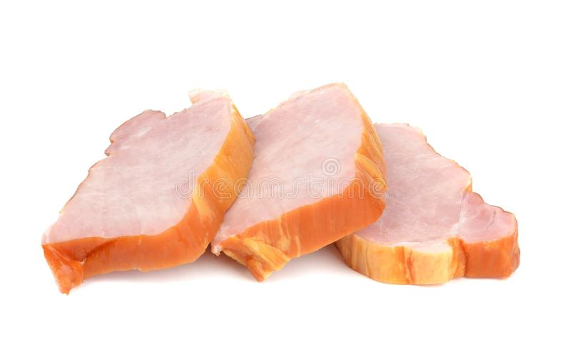 Sliced Gammon Steaks Stock Images