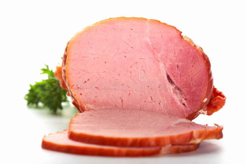 Download Sliced ham stock photo. Image of background, isolated - 12025374