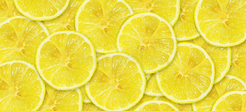 Sliced juicy lemon. Close-up. Copy space. Fresh fruits. Fruit background royalty free illustration