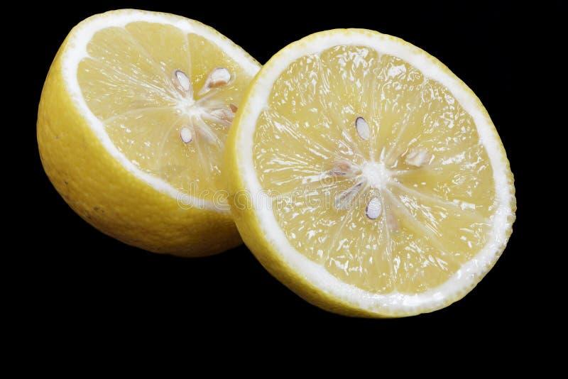 Download Sliced Lemon Fruit stock image. Image of food, black - 30902507