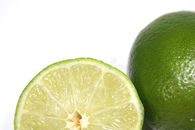 Sliced Lime stock photography