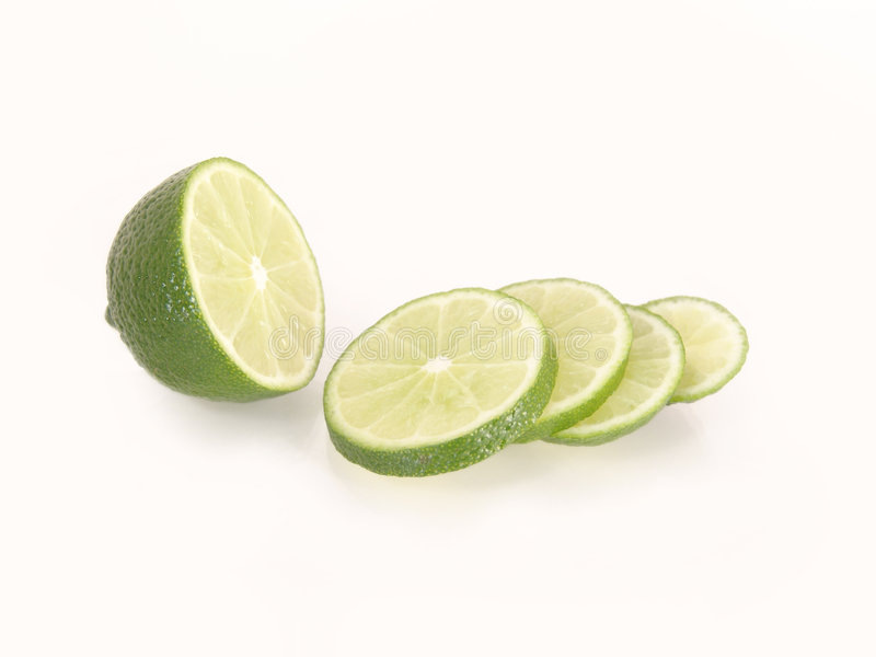Sliced lime royalty free stock image