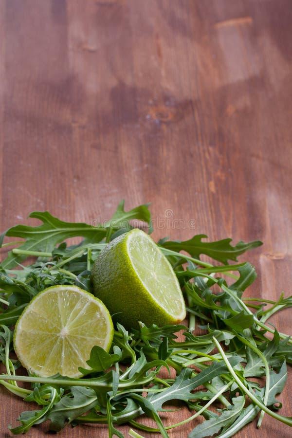 Download Sliced Lime And Rukola Stock Image - Image: 18672901