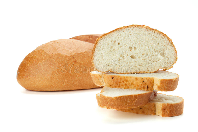Download Sliced loaf bread stock photo. Image of food, baked, closeup - 18480276