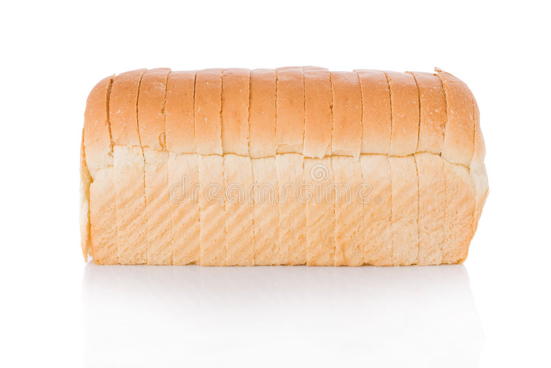 Sliced loaf of bread stock image