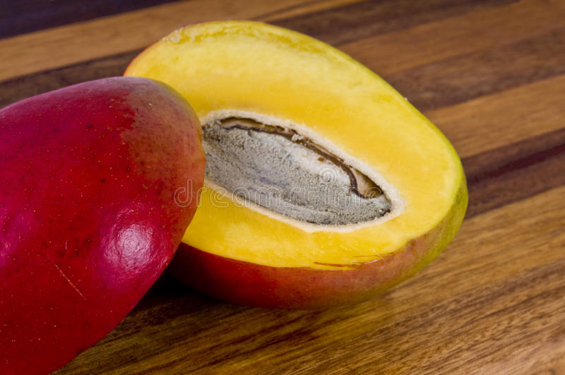 Sliced mango royalty free stock photos