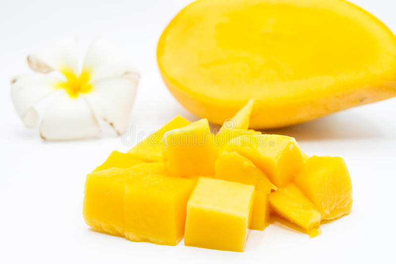 Sliced mango royalty free stock photography