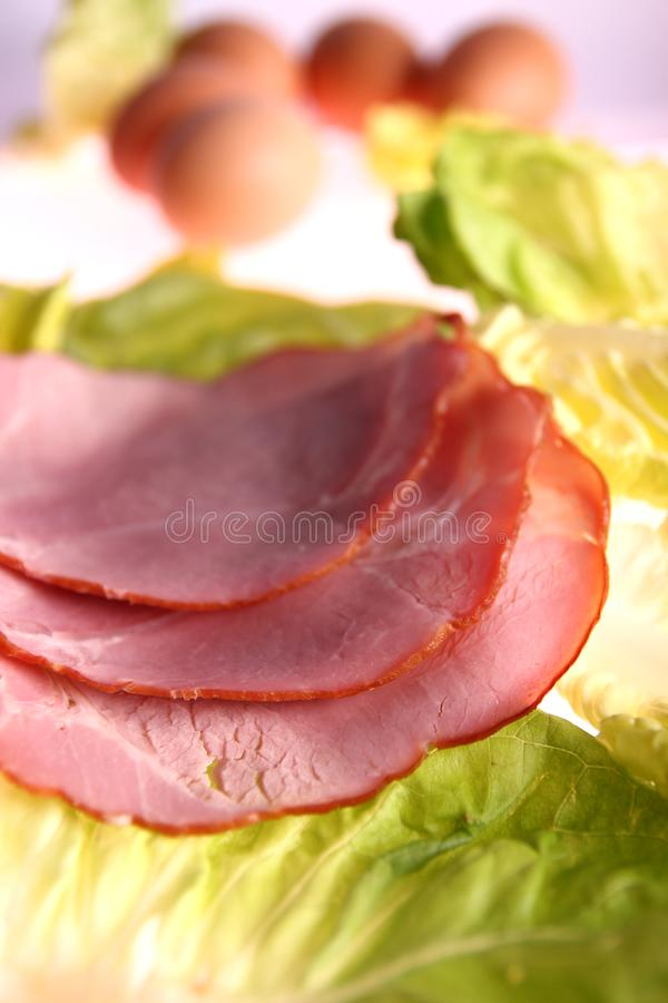 Sliced meat royalty free stock photo