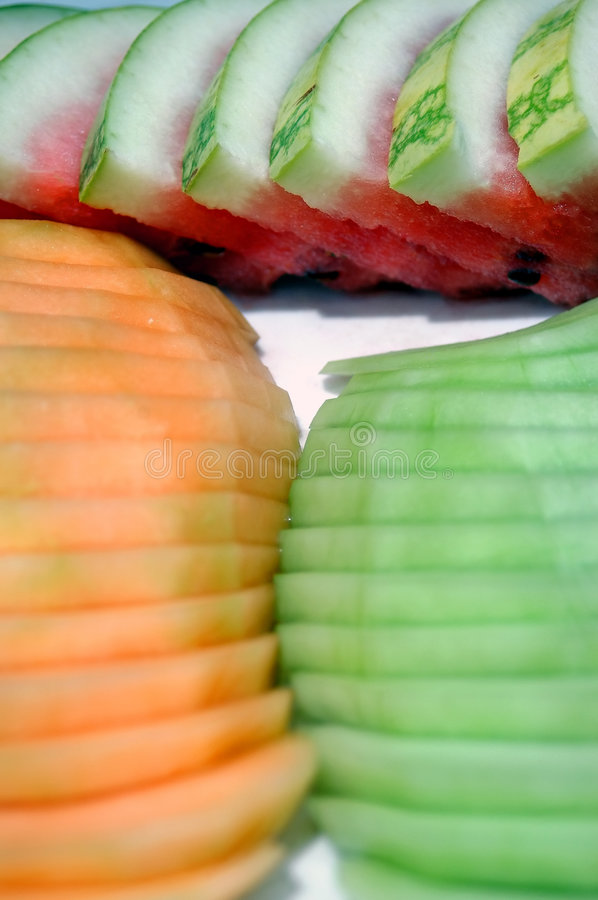 Free Sliced Melons Royalty Free Stock Photography - 515717
