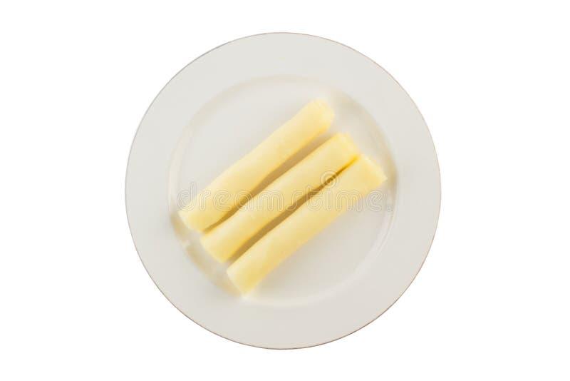 Sliced Mozzarella. Roll shape royalty free stock photo