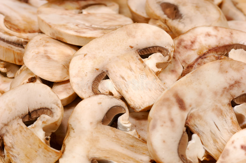 Sliced Mushrooms royalty free stock photos
