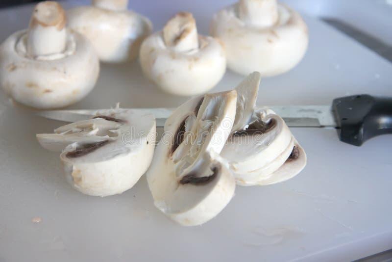 Sliced Mushrooms Stock Image