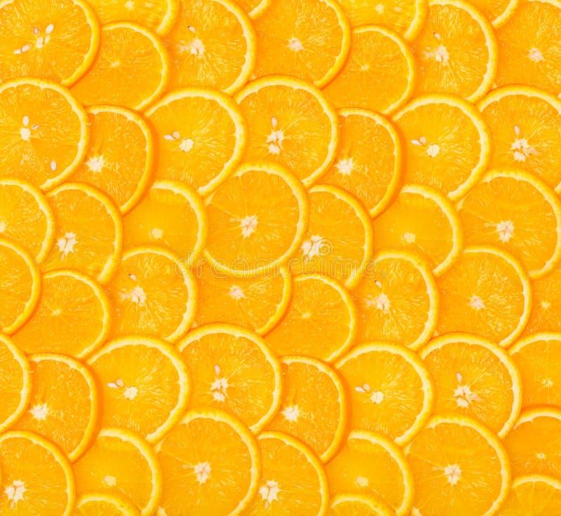 Sliced orange background royalty free stock image