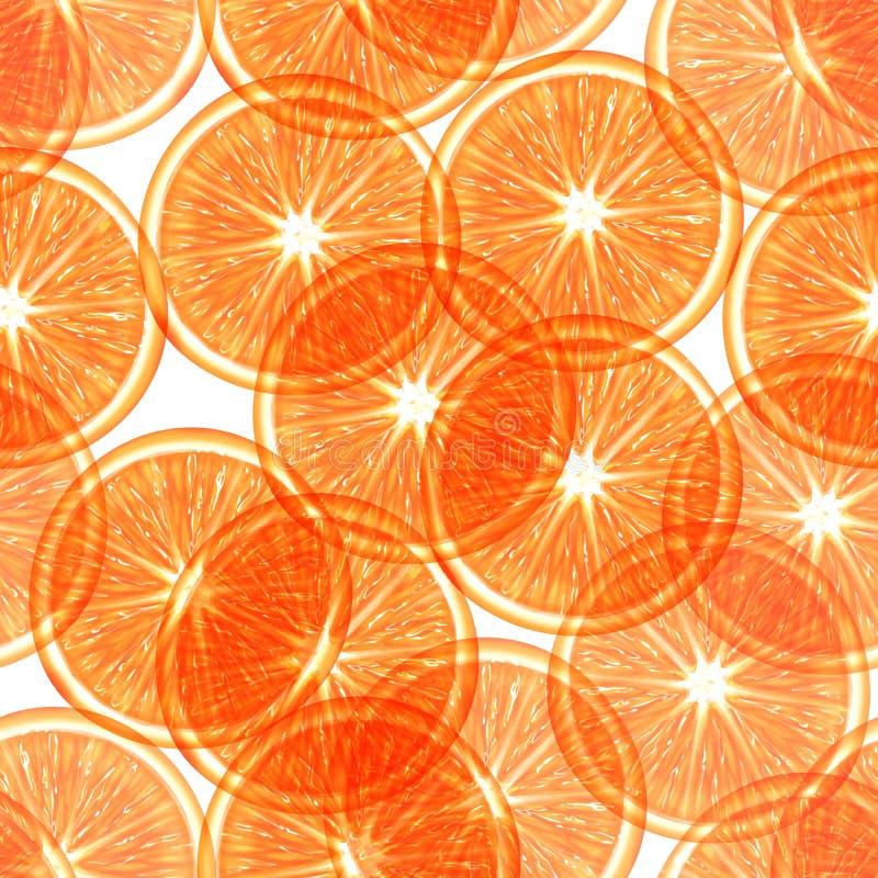 Sliced orange seamless pattern vector illustration